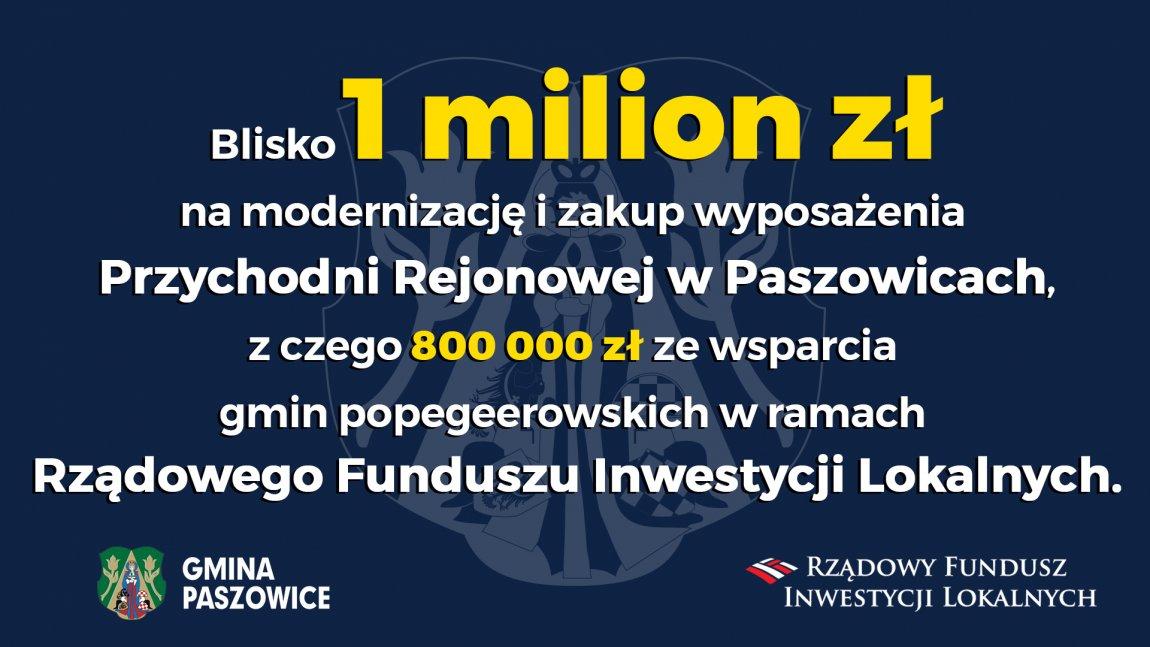 Blisko 1 milion na Przychodnię w Paszowicach