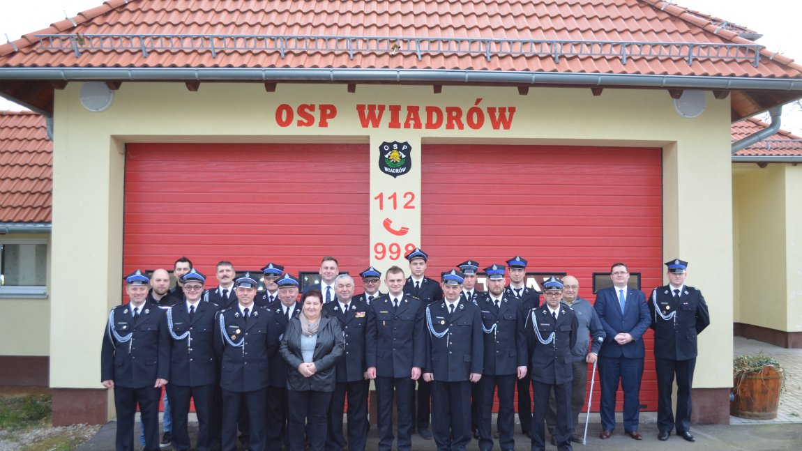 Strażacy OSP Wiadrów w 2017 r.